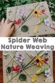 Or play free educational games? Spider Web Nature Weaving Activity Little Pine Learners