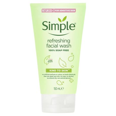 simple refreshing face wash