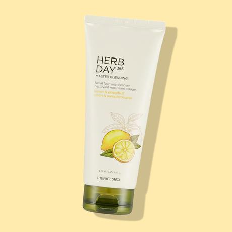 The Face Shop HERB DAY 365 Master Blending Foaming Cleanser - Lemon & Grapefruit