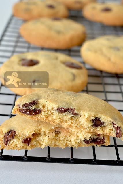 copycat crunchy Chips Ahoy chocolate chip cookies recipe two