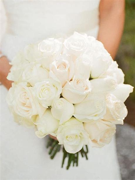 Use them in commercial designs under lifetime, perpetual & worldwide rights. 20 Romantic White Wedding Bouquet Ideas   White roses ...