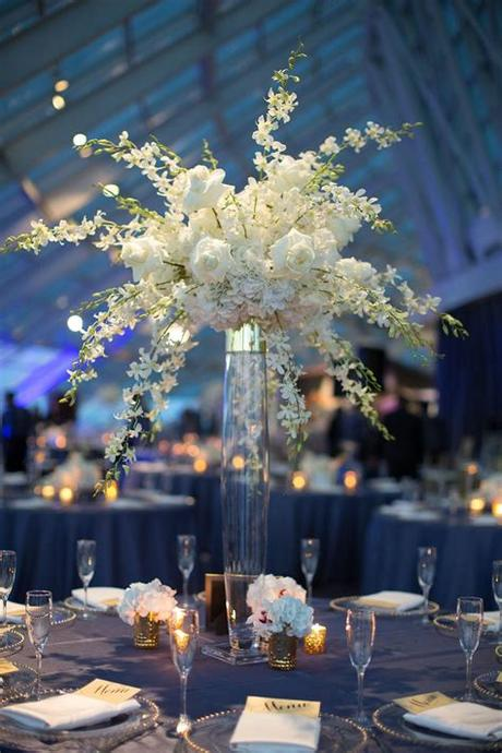 Did you have a white flower palette? Hanging white flower centerpieces / Indian Wedding ...