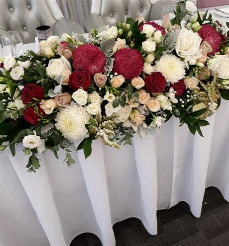 Have you chosen white as your signature wedding color? Bridal Table - Just Wedding Flowers