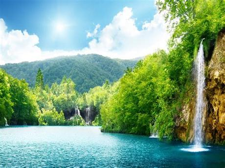 Find the best nature images in one place. Nature Waterfall Summer Lake Trees Hd Wallpaper 87432 ...