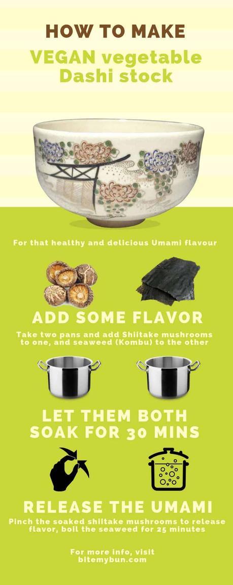 How to make vegan vegetable dashi stock recipe