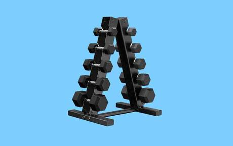 Best Dumbbell Sets - Epic Fitness 150-pound Dumbbell Set with Rack