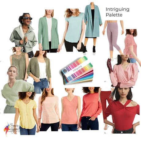 Colours that work with the Intriguing colour palette
