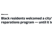 Evanston, Illionois Tries Reparations with Predictable Results.