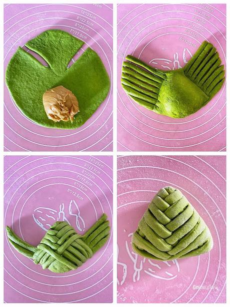 Matcha Peanut Butter Buns