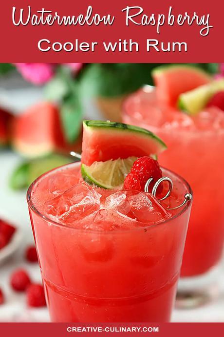 Watermelon Raspberry Cooler Cocktail