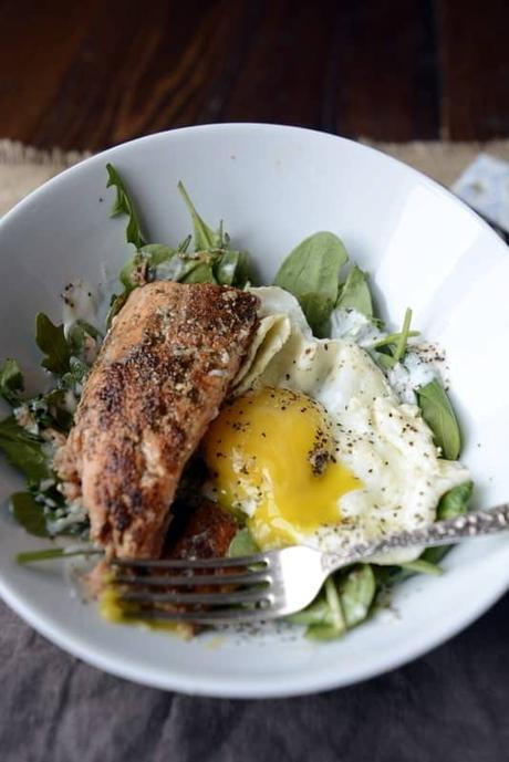 Simple Salmon and Egg Salad