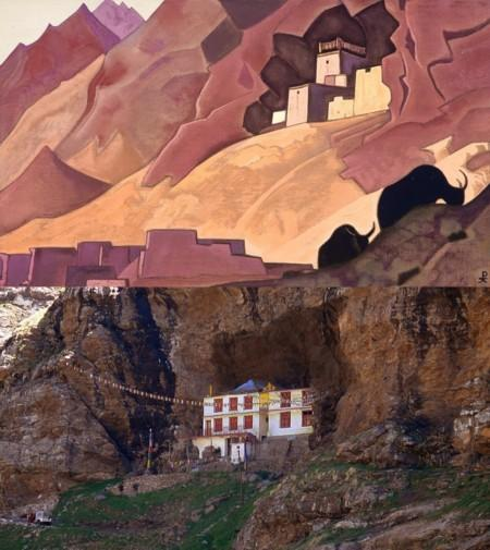 Places of Nicholas Roerich's Paintings in the Himalayas