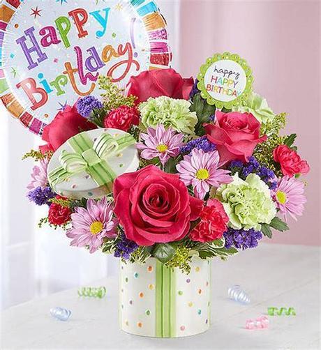 800 x 800 jpeg 620 кб. Chicago Happy Birthday Present Bouquet