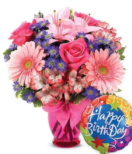 Birthday flowers flower love greeting card 1241 free images of birthday flowers. Pink Delight Bouquet Birthday at From You Flowers