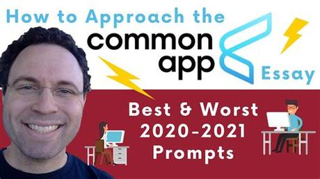 But, as we all know, time flies and there will soon be thousands of … Best & Worst Common App Essay Prompts (2020-2021) - YouTube