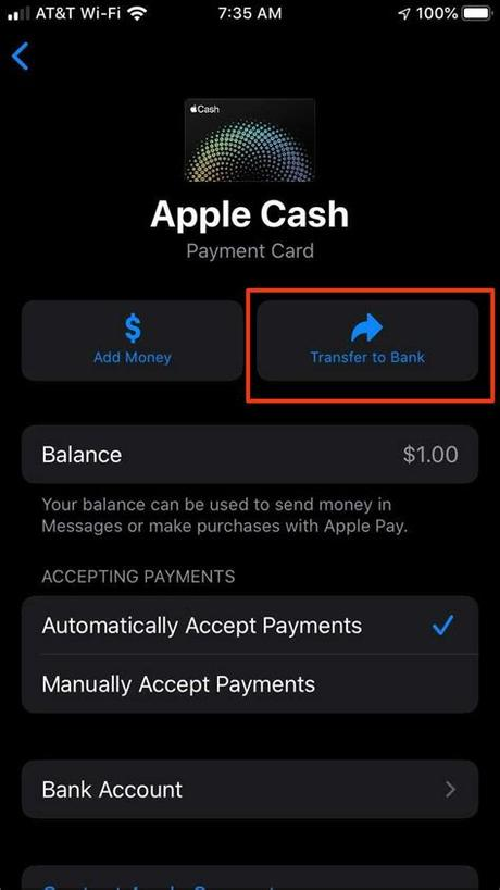 Tap the apple pay cash imessage app (if it's not visible, tap the apps icon next to the message field). How do I transfer my Apple Pay Cash balance to my bank ...