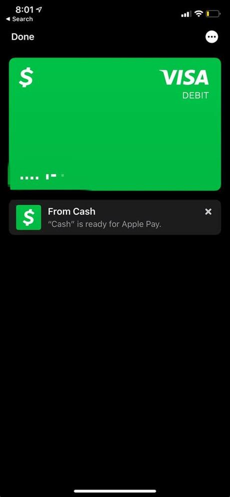 Once money is received in your apple wallet, you can use it for apple pay purchases in stores. How to add a Cash App account to Apple Pay with Cash Card ...