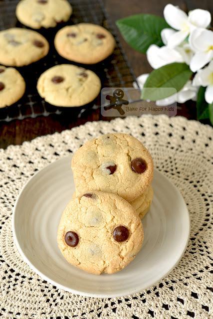 crunchy chocolate chip cookies no egg no shortening copycat Chips Ahoy
