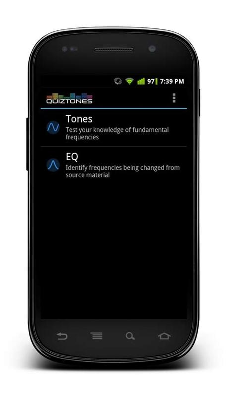 On ear trainer, 260 exercises focus on the nine areas of study. Quiztones ear training App now available for Android