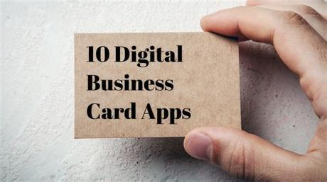 It's quite easy to share the details via mail, or you can even send them with the help of this application itself. 10 Apps for Creating a Digital Business Card - Small ...