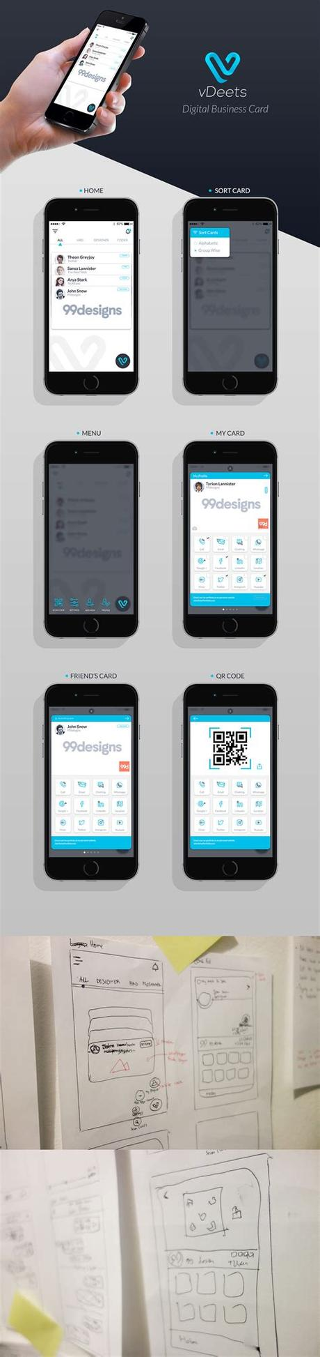 The last business card you will ever need. Digital Business Card App UI/UX on Behance