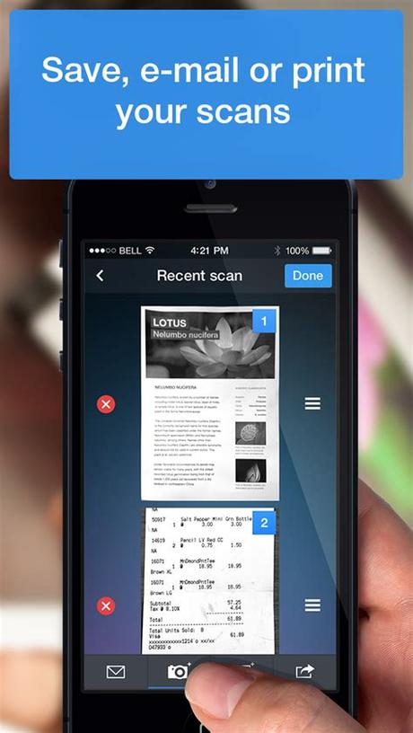 Once you have successfully logged. Scanner Pro - iPhone - English - Evernote App Center