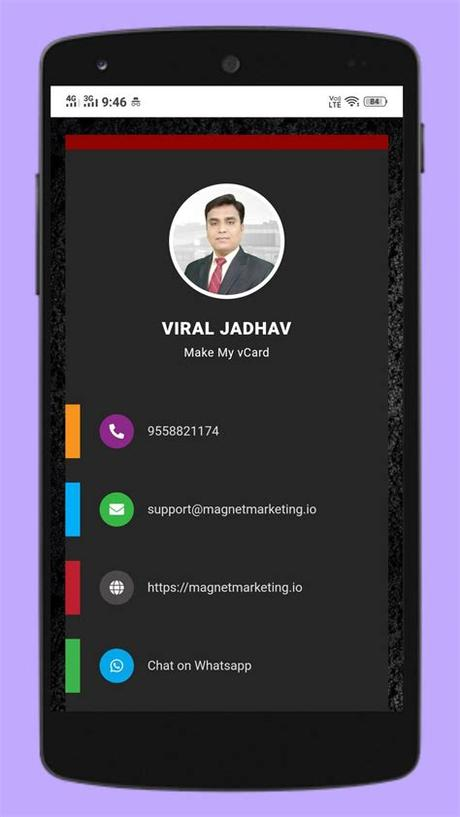 Wantedly people for a free business card scanner. Digital Business Card Maker App by Make My vCard for ...