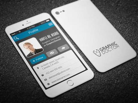 Additional android app that gives the customer more control and many more. iPhone Business Card template on Behance