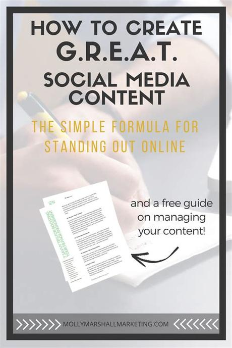 Knowing who your audience is and what they want to see on social media is key. How to Create G.R.E.A.T. Social Media Content   Molly ...
