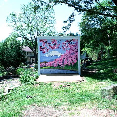 Professional Muralist Art Process Demo | How I Painted Murals On This Backyard Building | Cedar Lee