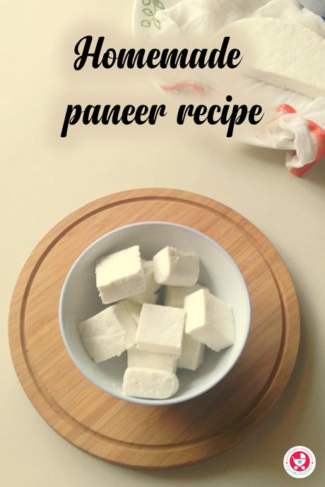 Here is a simple protein rich addon to nutrify any recipe! A delicious and calcium rich Homemade Paneer Recipe [How to make paneer at Home?] for you!