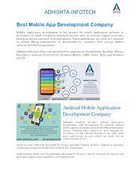 The top mobile app development companies in hyderabad have gained expertise by working with different types of. Best Mobile App Development Companies In Hyderabad