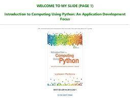 A social blogging application , builds flasky, the open source blogging and social networking application that i developed for this book: Best Pdf Introduction To Computing Using Python An Application Devel