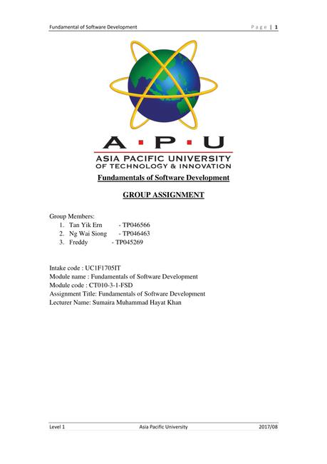 Pdf Fundamental Of Software Development Fsd Python Programming