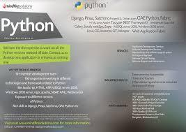 These days, developers are highly likely to be working on a mobile or web application. Python Development Services Mindfire Solutions