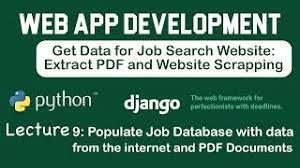 • chapter 8 implements a user authentication system. Python Web And Pdf Scrapping For A Django Web Application Tati Digital Connect