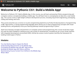 1.introduction to python 2.data structures 3.functions 4.modules and libraries 5.oop 6.testing / debugging topics covered in this course 7. Building Mobile Apps With Python Mobile Apps And Devices