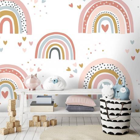 rainbow kids wallpaper, Stylish & Modern Children's Room & Nursery Wallpaper & Wall Mural Ideas