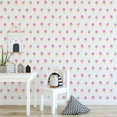 ice cream wallpaper, Stylish & Modern Children's Room & Nursery Wallpaper & Wall Mural Ideas