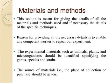 An example of a poorly written method section from a biology report. Endocrinology research papers - Ryder Exchange