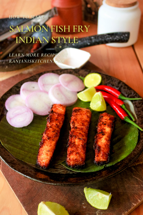 salmon fish fry indian style | omega 3 rich foods