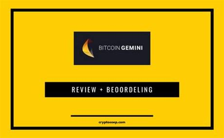 Gemini is a top cryptocurrency exchange designed with security in mind. Bitcoin Gemini 2020 - Is het Betrouwbaar of SCAM?