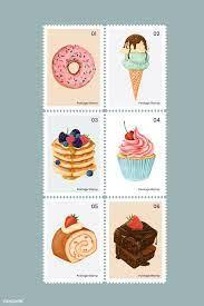 Grab your sour cream and 36 oreos and get ready to make the dessert of a lifetime. Cute Pastry And Sweets On Postage Stamps Set Vector Free Image By Rawpixel Com Noon Desain Menu Desain