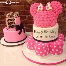Your business name should aim to stop a customer in their. Cute Minnie Mouse Name Wish Cake Enamewishes