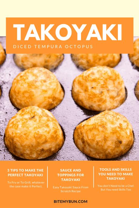 Takoyaki diced tempura