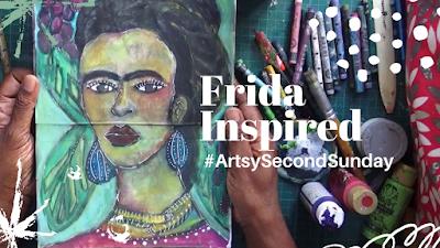 #Artsysecondsunday - Frida Inspired Painting