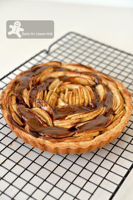 perfect caramel apple tart less sugar not sweet