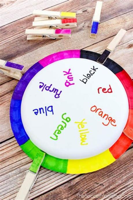 Color matching will be fun with this build a bear color match printable activity for preschoolers! Rainbow Wheel Color Matching Game for Toddlers & Preschoolers