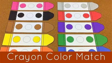 Matching games, board games, puzzles, and more, plus clip cards, color sorting. Crayon Color Match Presschool and Kindergarten Learning ...