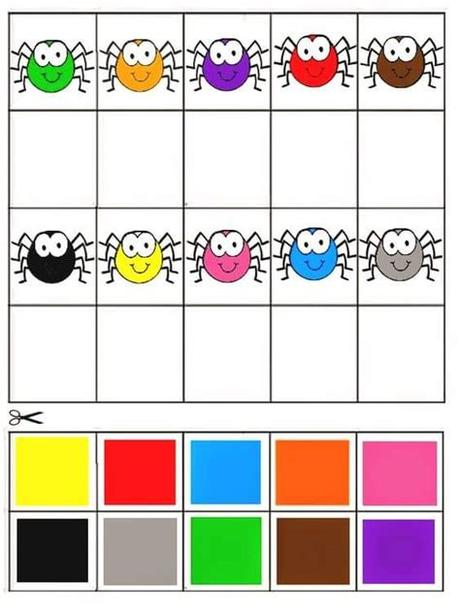 Your kid will match up numbers with their corresponding quantities. free-printable-matching-games-color-matching-activity ...